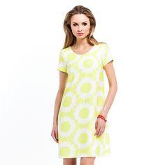 Minimalistyczna sukienka z motywem słonecznika