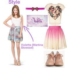 Disney Channel's Violetta: Dress like Vilu by sweetheartlucy on Polyvore featuring polyvore, fashion, style, Oscar de la Renta, Disney and ViolettaDisney