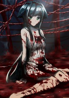 Bloody anime girl Guro saya no uta