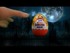 I'm unboxing a flying Halloween Kinder Surprise Egg. Flying Surprise Eggs are funny. It was funny to unbox this huge Maxi Kinder Su.