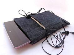 Nexus 7 case cover sleeve pouch handmade dark blue jeans by Begoos, $17.50