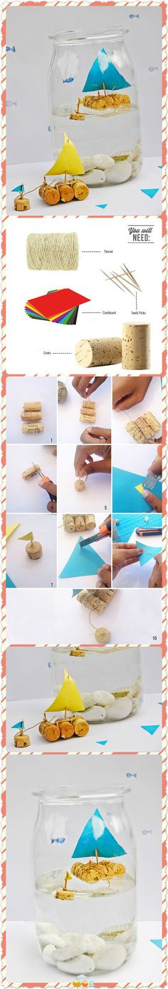 Here is a collection of fun and easy summer kids crafts ideas to make. Get inspired for summer camp crafts: - painted seashells - DIY sidewalk chalk on the p. Kids Crafts, Summer Crafts, Projects For Kids, Diy For Kids, Diy And Crafts, Craft Projects, Craft Ideas, Diy Ideas, Cork Crafts