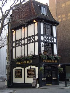The Coach and Horses Pub, Mayfair, London, is the oldest pub in Mayfair established in 1744 and used to be a coaching inn providing accommodation to the aristocracy