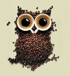 coffee beans and owls.....most of my sisters' lives