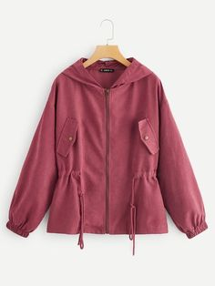 To find out about the Drawstring Waist Zipper Up Hoodie Jacket at SHEIN, part of our latest Outerwear ready to shop online today! Hoodie Jacket, Rain Jacket, Colorful Hoodies, Jackets Online, Drawstring Waist, Outerwear Jackets, Types Of Sleeves, Zip Ups, Raincoat