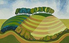 Wittenham Clumps Landscape Art, Landscape Paintings, English Artists, Naive Art, Tree Art, Contemporary Paintings, Cat Art, Light In The Dark, Art Inspo