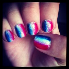 My #fourthofjuly #ombre #nails !!!
