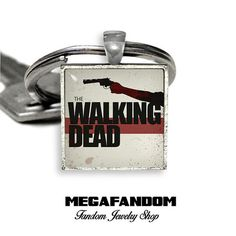The Walking Dead Keyring Keyfob Walking Dead Square Keychain Gift for Him Gift for Her