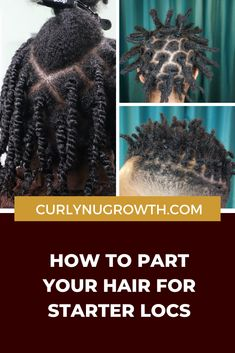 After you've decided that you're ready to begin your loc journey, the next step is determining how to part your hair for your starter locs. The way that you part your hair for locs is formally known as your parting system. Hair Care Routine, Hair Care Tips, Starter Locs, Dreadlock Hairstyles, Sisterlocks, Black Women Hairstyles, Hair Beauty, Journey, Tutorials