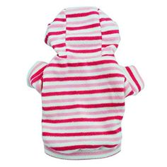 Creazy® Polar Fleece Pink Stripe with Hood Teddy Pet Clothing (L) ---> ADDITIONAL DETAILS @: http://www.best-outdoorgear.com/creazy-polar-fleece-pink-stripe-with-hood-teddy-pet-clothing-l/