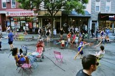 For a few weekends in the summer, visitors to Williamsburg Walks reimagine their street as a vibrant public space without the intrusion of cars. But unlike most festival or fair street closures where stages and tents are set up, this event takes on a lighter approach, letting the community decide how to take advantage of their temporarily reclaimed public space. Folks come to parooze shops, picnic, play, and simply take pleasure in walking down the middle of the road. #LQC #StreetsAsPlaces