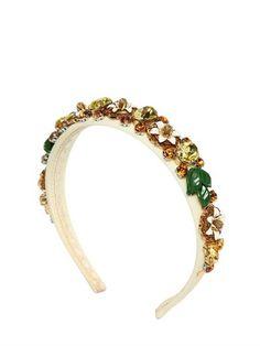 Dolce & Gabbana Satin Headband With Swarovski Crystals on shopstyle.com