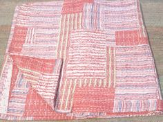 Indian Cotton Handmade Patchwork kantha Quilt Blanket Throw Gudari Bedspread 41 #Handmade