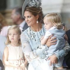 Princess Victoria's 40th birthday Celebrations, July 14, 2017 - Princess Madeleine with daughter Leonore and son Nicolas