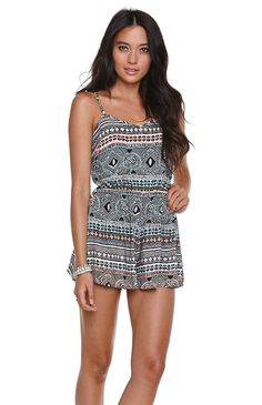 Kendall & Kylie Tie Back Romper #pacsun