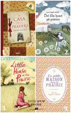 Look at these gorgeous international covers for the book, Little House on the Prairie. #lhotp 1. Spain and Latin America - La Casa de la Pradera 2. Sweden - Det lilla huset på prärien 3. United Kingdom - Little House on the Prairie and 4. France - La Petite Maison dans la Prairie. Do you have a favorite look?
