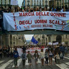 #Marcia dalla #MoleAntonelliana a #PiazzaCastello a #piedinudi #inTo #Torinointegrazione #Torino Http://Torinointegrazione.blogspot.it/