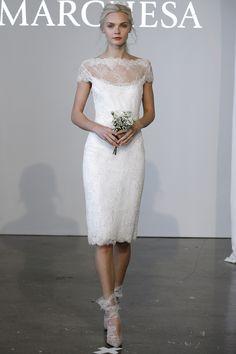 Vestido de novia Marchesa donde la sencillez se da cita con la elegancia