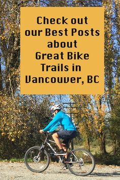 Here's a quick guide to some of the best bike trails in and around Vancouver! Vancouver cycling at its best. Many of these trails are great for cyclists of all ages and abilities. Cycling Workout, Bike Accessories, Bike Trails, Vancouver Island, Cool Bikes, British Columbia, Bicycle, Canada, Posts