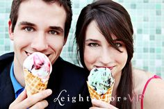 Cute Engagement pic with ice cream!