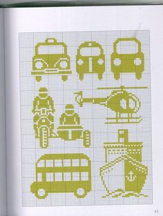 Great for Darcy Cross Stitch For Kids, Cross Stitch Kitchen, Mini Cross Stitch, Cross Stitch Charts, Cross Stitch Embroidery, Cross Stitch Patterns, Blackwork Embroidery, Crochet Car, Crochet Cross