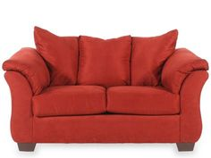 ASH-7500135 - Ashley Darcy Red Loveseat   Mathis Brothers Furniture