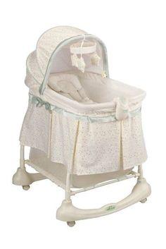 Unisex Moses Basket Rocking Stand Rolling Bassinet Incline Sleeper Baby Cradle #Kolcraft