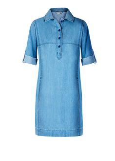 Vestido camisero estilo henley