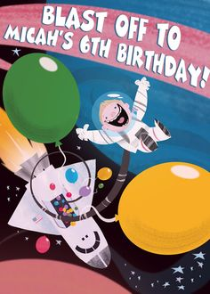 My husband's invitation design for last year's Outer Space Party!