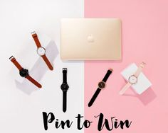 Enter this giveaway for a chance to win a gold Macbook and 5 amazing watches!
