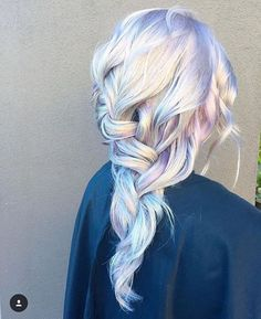 Holographic Dimensional Silver Violet Romantic Braid by the team at Ross Michael… - New Hair Design Dye My Hair, New Hair, Opal Hair, Mermaid Hair, Mermaid Style, Rainbow Hair, Crazy Hair, Gorgeous Hair, Hello Gorgeous