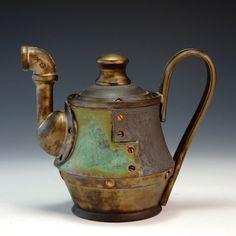 Andrew Massey - Crimson Laurel Gallery Bakersville NC - SteamPunk Ceramics http://www.crimsonlaurelgallery.com/Artist.cfm