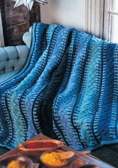 Alaskan Blue Tunisian Crochet Blanket Pattern
