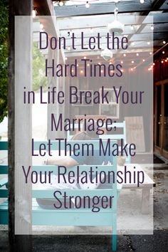 Trials and setbacks come up often in life and they can take a toll on relationships not matter their nature. Don't let the struggles that you have tear your marriage apart, use them for good and let them make that relationship stronger than ever! #marriage #inspiration