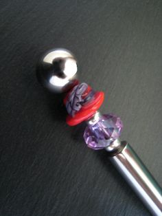 Red Hat Society Beaded Cheese Knife with Jaunty by DesignsByMalone, $35.00
