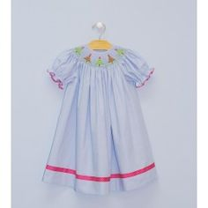 Smocked Christmas Tree Bishop - $54.00