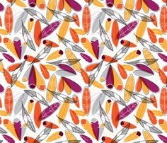 Shake Your Tailfeathers fabric by nadiahassan on Spoonflower - custom fabric