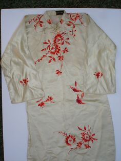 Silk Cheongsams designed by Jenny Lewis and hand embroidered by artisans in Suzhou, China. Jenny Lewis, Plum Flowers, Suzhou, Artisan, China, Silk, Vintage, Design, Fashion