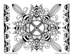 Coloring pages for adults and grown ups are perfect for stress relief and coping with pain. Grab your colored pencils and enjoy the details of the printable coloring pages by Jennifer Stay on Coloring Pages Bliss