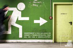 Onderwerp u dus aan God, en verzet u tegen de duivel, dan zal die van u wegvluchten. Jakobus 4:7  #God, #Satan  http://www.dagelijksebroodkruimels.nl/jakobus-4-7/