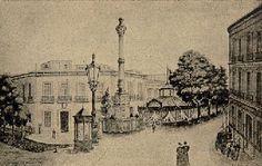 Puerta Purchena (Almería). Litografía de 1899