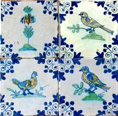17th Century Dutch Ceramic Tiles Antique Tiles, Vintage Tile, Delft Tiles, Mosaic Tiles, White Porcelain Tile, Art Ancien, Different Kinds Of Art, Decorative Tile, Arts And Crafts Movement