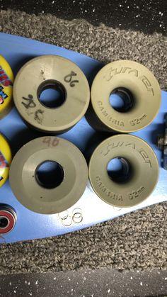 Slalom wheels. Longboards, Skateboard, Gym Equipment, Wheels, Collection, Skateboarding, Skate Board, Long Boarding, Workout Equipment