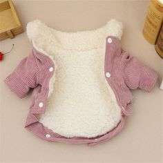 Chihuahua Clothes, Puppy Clothes, French Bulldog Clothes, Dog Winter Coat, Winter Overcoat, Cute Little Dogs, Small Dog Clothes, Dog Jacket, Pink Dog