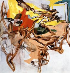 CHARLINE VON HEYL Happy End 2005 acrylic and oil on cancas 82 x 78 inches/208.3 x 198.1 cm