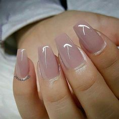 Why do acrylic nails always look way better then natural nails? There is just something about acrylic nails that are simply fabulous and we have found a bunch of awesome acrylic nail designs. Nude Nails, My Nails, Gradient Nails, Holographic Nails, Matte Nails, Stiletto Nails, Nexgen Nails Colors, Gold Tip Nails, Blush Pink Nails