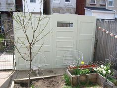 Fence made from Doors