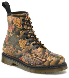 Dr. Martens 1460 Tattoo Sleeve Softy Smooth Leather Boots