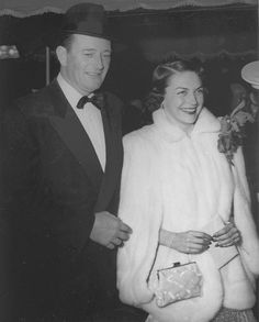 John Wayne and Esperanza Baur, Sands of Iwo Jima Premiere, 1949 | Flickr - Photo Sharing!