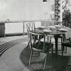 My diningroom chairs and table. Furniture designed by a. Mid century interior from Holland. Dining Room Chairs, Dining Table, Outdoor Furniture, Table Furniture, Outdoor Decor, Interior Inspiration, Holland, Furniture Design, Mid Century